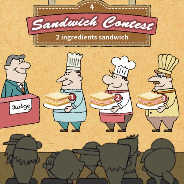 具材を2種使ったサンドイッチ