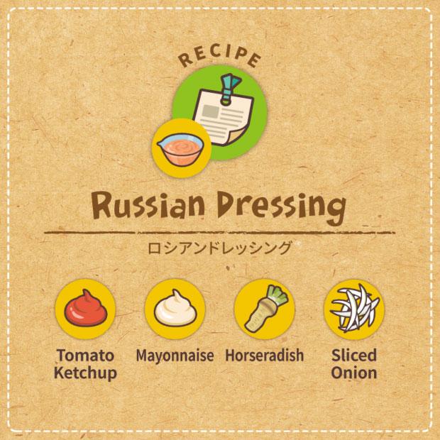 ロシアンドレッシングのレシピ