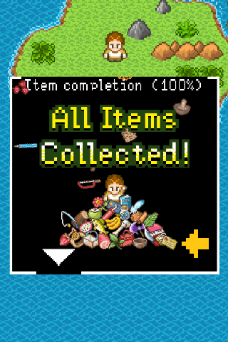 Tap here to get the new item