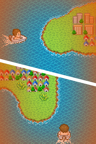 The location of the goal island is one of two places
