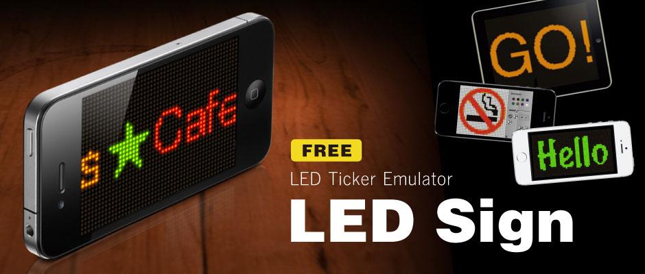 LED Sign - LED emulator app for iPhone / iPad -